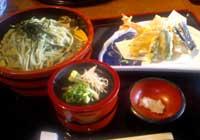 味荘 しもんうどんと天ぷらのセット