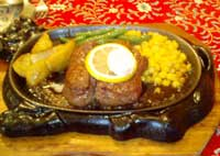 牛王のビフテキ レモンステーキ風の和風ソース