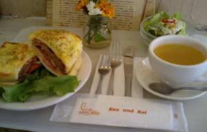 クロックムッシュバーガー(サラダ&スープ付)