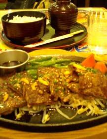 牛右衛門 柔らかカルビステーキ(和食セット)