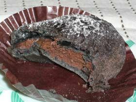 ウフブラック 中のチョコクリーム