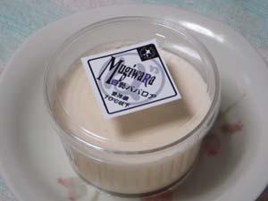 麦わら帽子 豆乳ババロア