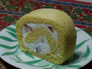 岡村製菓の苺ロール