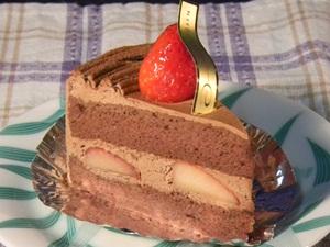 苺のチョコショート