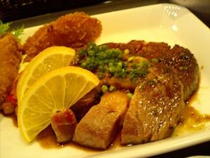 レモンステーキと魚フライ