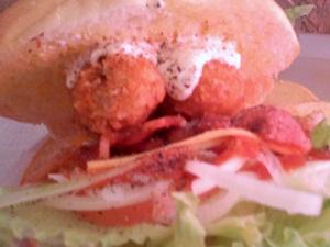 エスアンドケイ 牡蠣バーガー